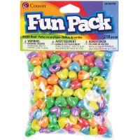 Cousin Fun Pack Acrylic Heart Beads   NOTM205847