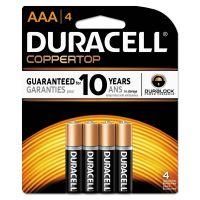Duracell CopperTop Alkaline Batteries, AAA, 4/PK DURMN2400B4Z