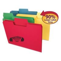 "Smead SuperTab Heavyweight Folder, 1/3 Tab, 3/4"" Exp., Letter, Assorted, 50/BX SMD10410"