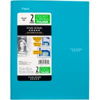 Five Star Stay-Put 2-Pocket Folder with Fasteners MEA34030