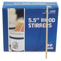 "Royal Paper Wood Coffee Stirrers, 5 1/2"" Long, Woodgrain, 1000 Stirrers/Box RPPR810BX"