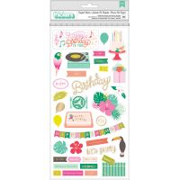 """Confetti Wishes Thickers Stickers 5.5""""X11"""" 2/Pkg NOTM365976"""