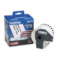 """Brother Continuous Paper Label Tape, 2-2/5"""" x 100 ft Roll, White BRTDK2205"""