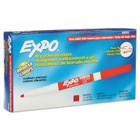 EXPO Low Odor Dry Erase Marker, Fine Point, Red, Dozen SAN86002