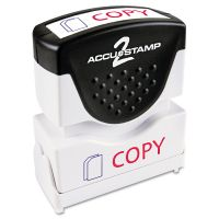 ACCUSTAMP2 Pre-Inked Shutter Stamp, Red/Blue, COPY, 1 5/8 x 1/2 COS035532
