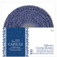 Papermania Parisienne Blue Adhesive Crochet Border NOTM321109
