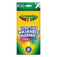 Crayola Washable Markers, Fine Point, Classic Colors, 8/Pack CYO587809