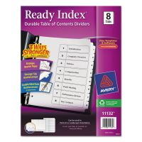 Avery Ready Index Customizable Table of Contents Black & White Dividers, 8-Tab, Letter AVE11132