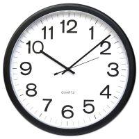 "Universal Round Wall Clock, Black, 12"" UNV11641"