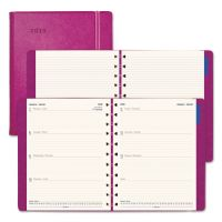 Filofax Soft-Touch Weekly Planner, 10 3/4 x 8 1/2, Fuchsia, 2019 REDC1811403