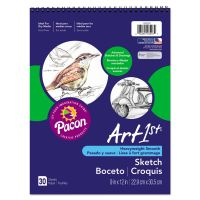 Pacon Artist's Sketch Book, Unruled, 80lb, 9 x 12, White, 30 Sheets PAC103207