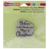 "Stampendous Christmas Cling Rubber Stamp 3.5""X4"" Sheet NOTM079430"