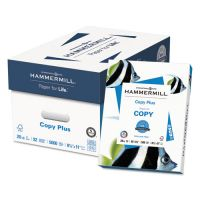 Hammermill Copy Plus Copy Paper, 92 Brightness, 20 lb, 8 1/2 x 11, White, 5000 Sheets/Carton HAM105007