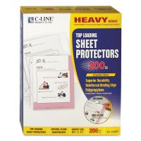 C-Line Heavyweight Polypropylene Sheet Protector, Letter, Heavy Gauge, Clear, 200/BX CLI62097