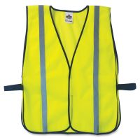 ergodyne GloWear 8020HL Safety Vest, Polyester Mesh, Hook Closure, Lime, One Size Fit All EGO20040