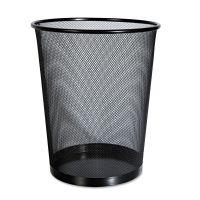 Universal Mesh Wastebasket, 18qt, Black UNV20008