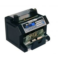 Front loading bill counter with counterfeit detection, 1200 bills/min and auto start/stop, batching 1 -999 bills, auto self test RSIRBC3100