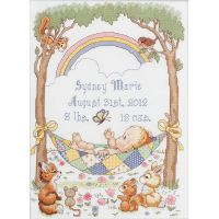 Bucilla Our Little Blessing Birth Record Counted Cross Stitch Kit NOTM050125