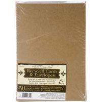 """Heavyweight A7 Cards/Envelopes (5.25""""X7.25"""") 50/Pkg NOTM107167"""