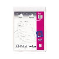 Avery Job Ticket Holders, Heavy Gauge Vinyl, 9 x 12, Clear, 10/Pack AVE75009