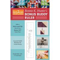 C&T Publishing fast2cut Bonnie K. Hunter's Bonus Buddy Ruler NOTM087257