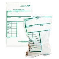 Quality Park Cash Transmittal Bags w/Printed Info Block, 6 x 9, Clear, 100 Bags/Pack QUA45220
