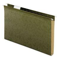 "Pendaflex Reinforced 1"" Extra Capacity Hanging Folders, Legal, Standard Green, 25/Box PFX4153X1"