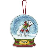 Dimensions Hope Snowglobe Counted Cross Stitch Kit NOTM051093