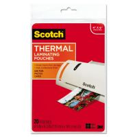 Scotch Photo Size Thermal Laminating Pouches, 5 mil, 6 x 4, 20/Pack MMMTP590020