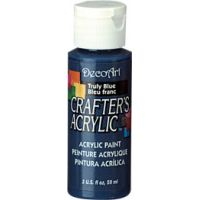 Deco Art Crafter's Acrylic Truly Blue Acrylic Paint NOTM227151