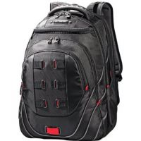 Samsonite Tectonic PFT Backpack, 13 x 9 x 19, Black/Red SML515311073
