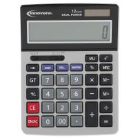 Innovera 15968 Minidesk Calculator, 12-Digit LCD IVR15968