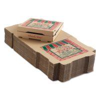 ARVCO Corrugated Pizza Boxes, 12 x 12 x 1 3/4, Kraft, 50/Carton ARV9124314