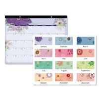 AT-A-GLANCE Paper Flowers Desk Pad, 22 x 17, 2019 AAG5035