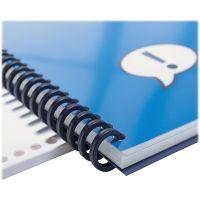 "Swingline GBC ProClick Easy Edit Spines, 5/8"" Diameter, 110 Sheet Capacity, Black, 100/Box SWI2514517"