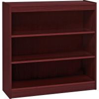 Lorell Panel End 3-Shelf Hardwood Veneer Bookcase LLR60071