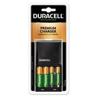 Duracell ION SPEED 4000 Hi-Performance Charger, Includes 2 AA and 2 AAA NiMH Batteries DURCEF27