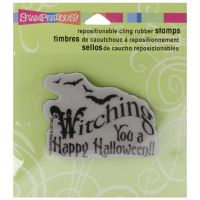 "Stampendous Halloween Cling Rubber Stamp 3.5""X4"" Sheet NOTM079403"