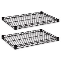 Alera Industrial Wire Shelving Extra Wire Shelves, 24w x 18d, Black, 2 Shelves/Carton ALESW582418BL