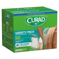 Curad Variety Pack Assorted Bandages, 200/Box MIICUR0800RB