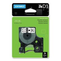 """DYMO D1 High-Performance Polyester Removable Label Tape, 1/2"""" x 23 ft, Black on White DYM45113"""