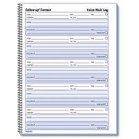 Rediform Voice Mail Wirebound Log Books, 8 x 10 5/8, 500 Sets/Book RED51114