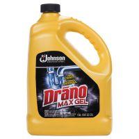 Drano Max Gel Clog Remover, Bleach Scent, 128 oz Bottle, 4/Carton SJN696642