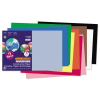 Pacon Riverside Construction Paper, 76 lbs., 12 x 18, Assorted, 50 Sheets/Pack PAC103638