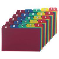 Oxford Card Guides, Alpha, 1/5 Tab, Polypropylene, 3 x 5, 25/Set OXF73153