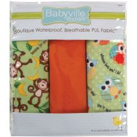 "Babyville PUL Waterproof Diaper Fabric 21""X24"" Cuts 3/Pkg NOTM140171"