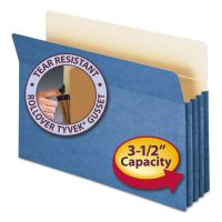 "Smead 3 1/2"" Exp Colored File Pocket, Straight Tab, Legal, Blue SMD74225"