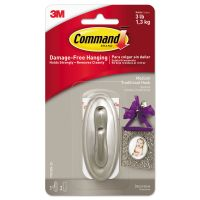 Command Decorative Hooks, Traditional, Medium, 1 Hook & 2 Strips/Pack MMM17051BNES
