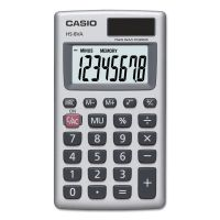 Casio HS-8VA Handheld Calculator, 8-Digit LCD, Silver CSOHS8VA