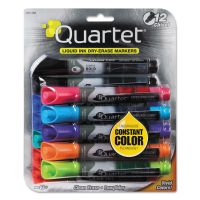 Quartet EnduraGlide Dry Erase Marker, Chisel Tip, Assorted Colors, 12/Set QRT500120M